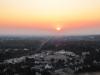 Der Blick vom Turm bei Sonnenuntergang