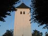 Blick auf den Turm vom Lindenweg aus